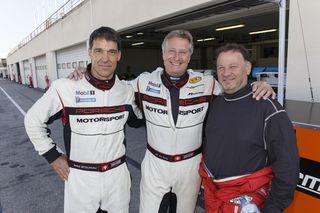 Trois de nos pilotes, Benoît, Jean-Paul et Patrick. Manquent sur la photo,Marco, MarcX2 et Rémi