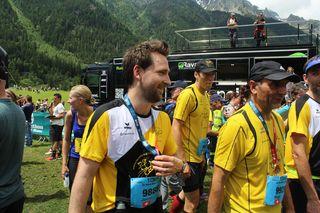 Jovan à l'arrivée des 10km de Chamonix