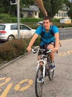Vincent, notre vélo-balais