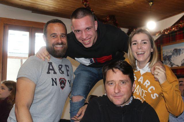 Bertrand, entouré de Morgane, Vincent et Slye, une partie de nos accompagnants
